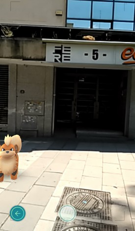 Pokemon en la sede