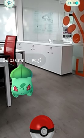 Pokemon en la oficina